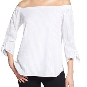 Bailey 44 XS White off the shoulder top - NWOT!